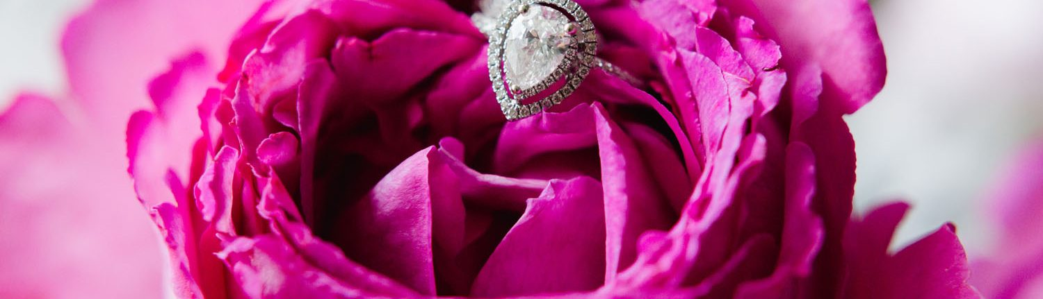 Wedding Ring in a Bright Hot Pink Flower Island Sands Beach Weddings